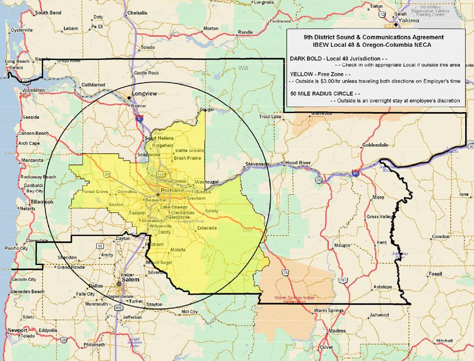 Jurisdiction Maps for IBEW 48 Electricians | IBEW Local 48